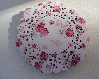 Handmade Paper Doilies DOUBLESIDED Set of 12