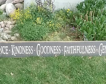 Fruits Of The Spirit Wood Sign (6 Foot)