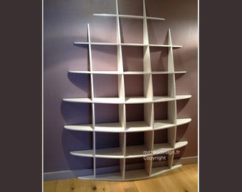 Invisible fastenings HAUTE2 design wall library