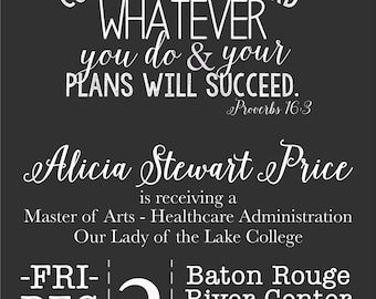 Printable GRADUATION Announcement Party Invitation