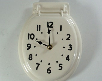 Johnny Clock Toilet Seat Wall Clock Made to Order