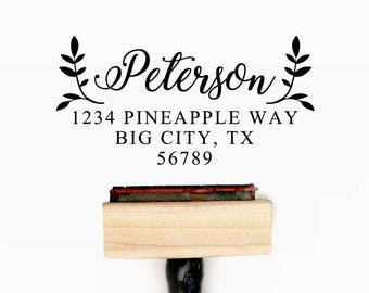 Custom Personalized Return Address Pre-Designed Rubber Stamp - Branding, Packaging, Invitations, Party, Wedding Favors - A011