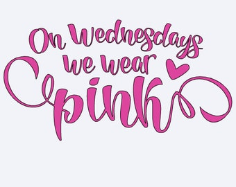 Free Shipping! On Wednesdays we wear pink