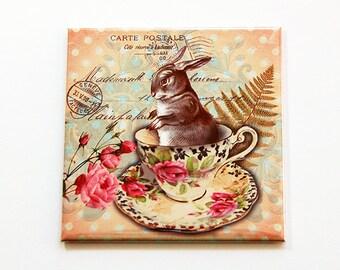 Easter Bunny Magnet, Easter Bunny, Magnet, Fridge magnet, Easter, Victorian Style, Easter Rabbit, Easter gift, Easter basket gift (5471)