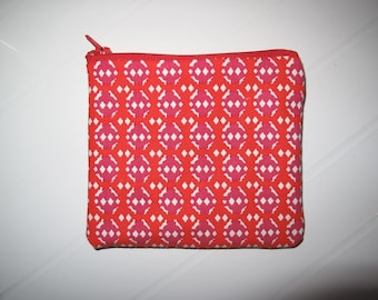 Small red Cosmetic clutch