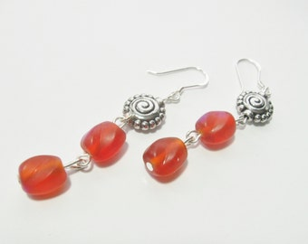 Boucles d'oreilles orange