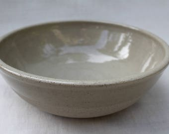 Large Ceramic Bowl - Speckled Natural Clay - Hand Thrown Stoneware - Ready to Ship