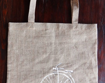 Linen Eco Bag, Linen Bag, Handmade Linen Bag, Shopping Bag