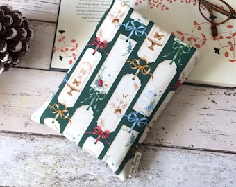 Bookmark Book Buddy®, Custom Size Book Sleeve, Classic Bookish Accessory, Bookstagram, Ribbon Book Sleeve, Padded Book Pouch, Book Lovers