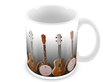 Ukulele and Banjolele  Ceramic Coffee Mug    Free Personalisation