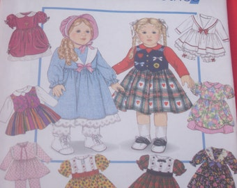 Design Your Own Easy Doll Clothes Pattern / 18 Inch Doll / UNCUT