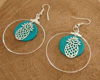 "Earrings ""PINEAPPLE RING"