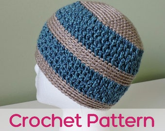 Alternating Posts Hat - Crochet Pattern