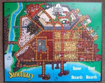 Vintage Sanctuary Game Board Mayfair Games 1988