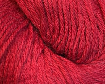 Red Cascade Hampton Pima Cotton and Linen DK Weight Yarn 273 yards color 06