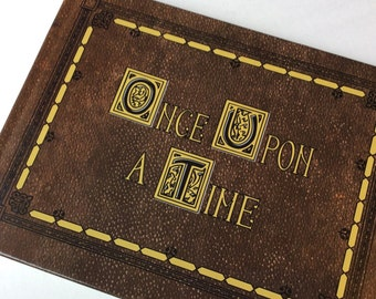 Once Upon a Time Fairytale Storybook Featuring Pictures,Maps, Quotes and space to write your own storybook with 140 Pages!