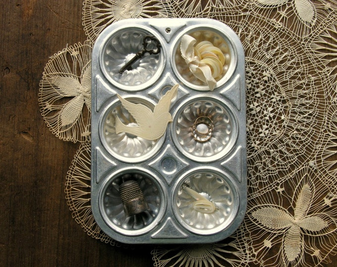 Toy Muffin Tin Tiny Metal Display Aluminum Pan Studio Organization