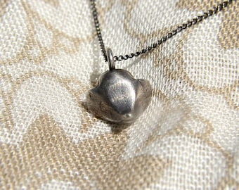 Silver Necklace, Woodland Creature Charm Pendant Solid Sterling Silver One of a Kind