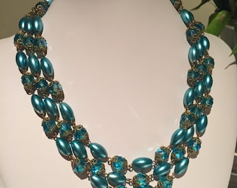 Vintage 1950s Turquoise Necklace