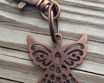 Copper Angel Key Chain Guardian Safety