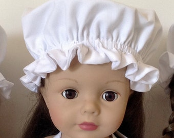 18 Inch Doll Clothes, Colonial Mob Cap, Heritage, Grannie Hat. Martha Washington Hat