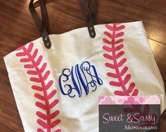 Baseball Bag. Monogram baseball bag. Baseball mom bag.