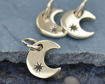 Sterling Silver, Tiny Crescent, Crescent Moon Charm, Crescent Moon, Moon Charm, Moon Jewelry, Celestial Charm, Silver Moon Jewelry