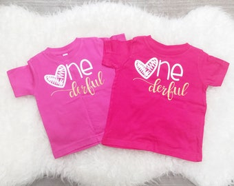Onederful Shirt, Onederful Onesie, Onederful Tshirt, Onederful Girl, I Am One, I Am One Shirt, First Birthday Shirt, First Birthday Outfit