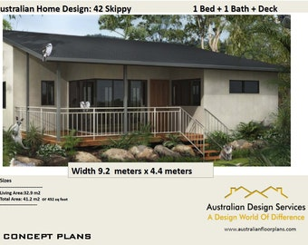 42 Skippy | 41.2m2 Or 452 Sq Foot | 1 Bedroom Small Home Design