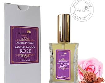 Sandalwood Rose Perfume Oil, Vegan Perfume, Gift Idea