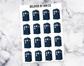 ITTY BITTY - Doctor Who Tardis Planner Stickers