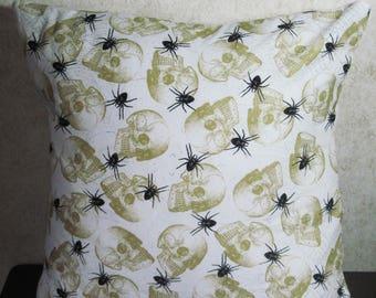 Skull Spider Envelope Pillow Cover 16x16