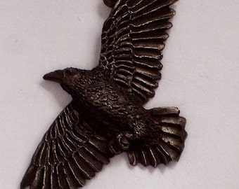Raven on the wind     New Design Hand Carved