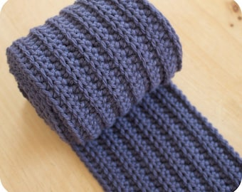 Thick Ribbed Scarf for Men