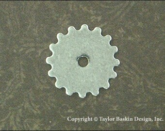 Antiqued Sterling Silver Plated Steampunk Gears, Watch and Clock Pieces (item 3002-small AS) -  100 Pieces