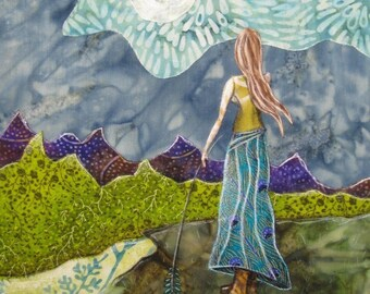 I am Enough,  soul search, zen meditate, cliff mountains, dreamer, archival reproduction print 8.5 x 11