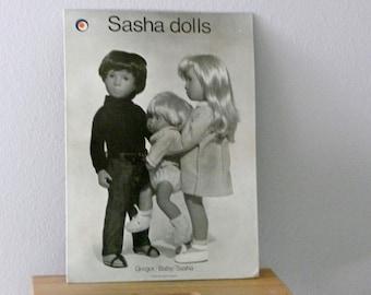 Vintage Sasha Doll Store Advertising Display Poster Photograph Toys