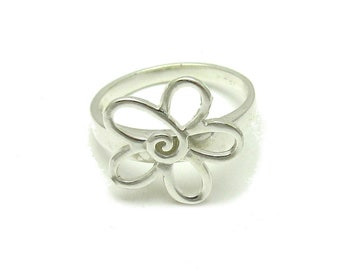 Sterling silver ring solid hallmarked 925 flower pendant