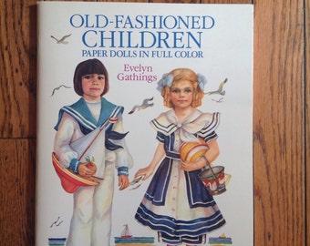 Vintage 1989 Uncut Old Fashioned Children Paper Dolls Unused