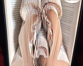 Nativity Folded Book Art Pattern