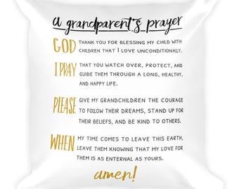 A Grandparent's Prayer Pillow
