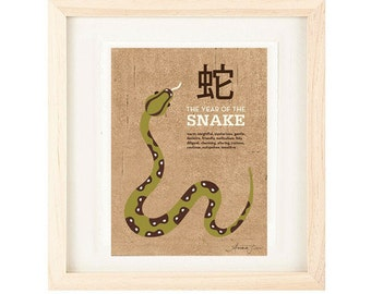 Year Of The Snake Poster Size Archival Print Zodiac Year: 2013