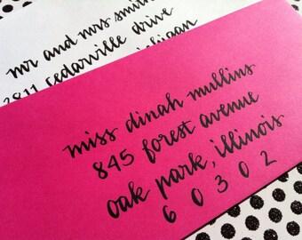 WEDDING CALLIGRAPHY DINAH : Custom Wedding Calligraphy Envelope Addressing