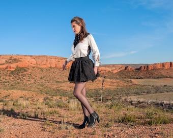 Black Daisy skirt