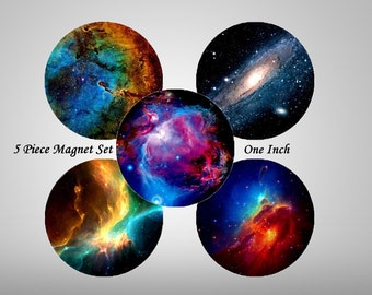 Space Magnets, 5 ct Space Magnet Set, Hubble Images Galaxy Magnet Set, Fridge Magnets, Tech Gift, Universe Magnets, Astronomy Gift