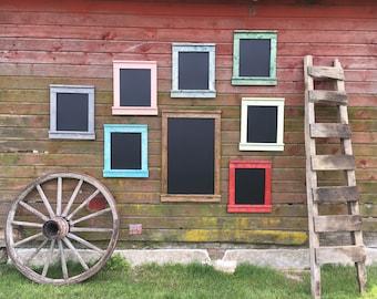 Distressed Chalkboard Sign, Rustic Chalkboard Sign, Farmhouse Style, Handmade Chalkboard Sign, Rustic Frame, Gallery Wall