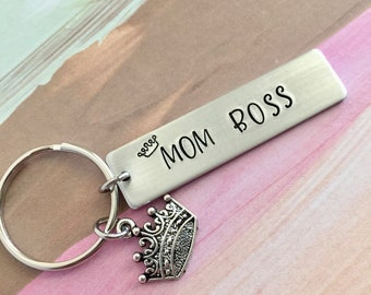 Maman porte-clés Boss ~ cadeau de fête des mères, cadeau de maman
