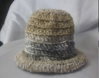 half price rolled brim hat in neutral color