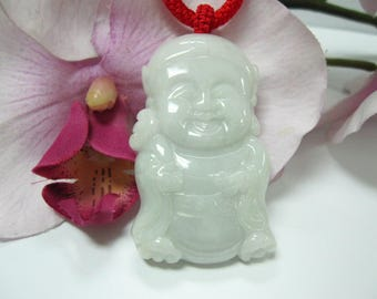 Jade God of Wealth (caishen 财神) 护身辟邪 招财纳福 Good Luck Charm Necklace