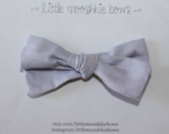 Hand Tied Gracie bow ~ Lilac~Girls Hair Bow~Fabric Bow~Baby Bows~Hand Tied Bow~Baby headband ~baby girl ~toddler girl
